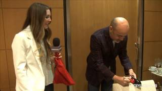 Allison Gets Her Shoes Signed By Christian Louboutin!