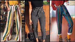 Trendy stripped pants / trouse…