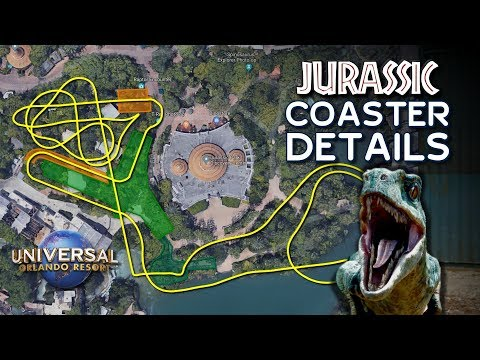 Jurassic Park Coaster Track Layout and Details Revealed at Universal Orlando - ParksNews