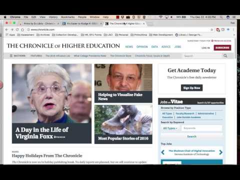 "Browse ""Chronicle of Higher Education"" Articles"
