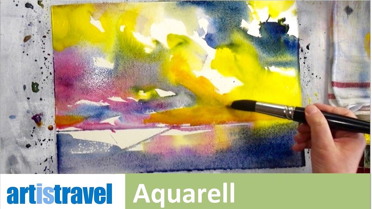 Expressives Aquarell Ganz Einfach Aquarellieren Lernen 3 Youtube
