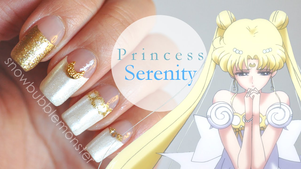 Sailor Moon Princess Serenity Inspired Nails Snowbubblemonster You