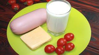 В холодильнике колбаса сыр и стакан кефира Я знаю что приготовить