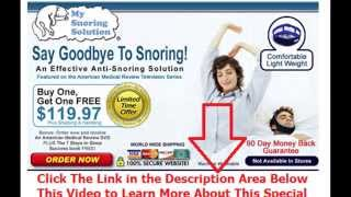 stop snoring overnight | Say Goodbye To Snoring