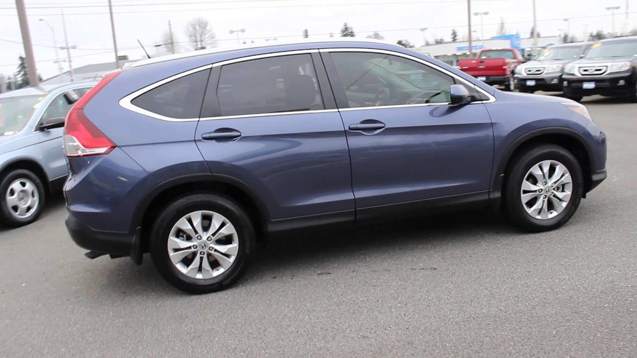 2012 Honda CR-V, Twilight Blue Metallic - STOCK# 12836P - Walk around - YouTube