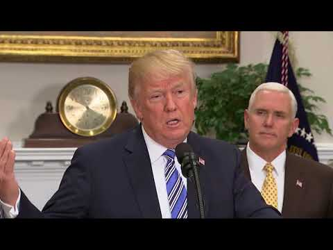 After a week of hints and uncertainty, President Donald Trump on Thursday announced tariffs on imported steel and aluminum but with temporary exemptions for Canada and Mexico as he seeks to revise the North American Free Trade Agreement. (The Associated Press)