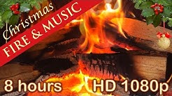 ☆ 8 HOURS ☆ CHRISTMAS MUSIC with FIREPLACE ♫ Christmas Music Instrumental ☆ LONG playlist ☆ YULE LOG