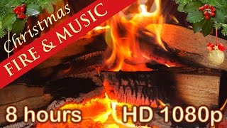✰ 8 HOURS ✰ CHRISTMAS MUSIC with FIREPLACE ✰ Christmas Songs Playlist ✰ Xmas Instrumental ✰ HD Video