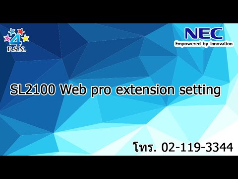 SL2100 Web pro extension setting