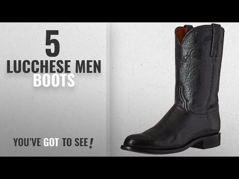 Top 10 Lucchese Men Boots [ Winter 2018 ]: Lucchese Bootmaker Men's Lawrence-Blk Lonestar Calf Roper
