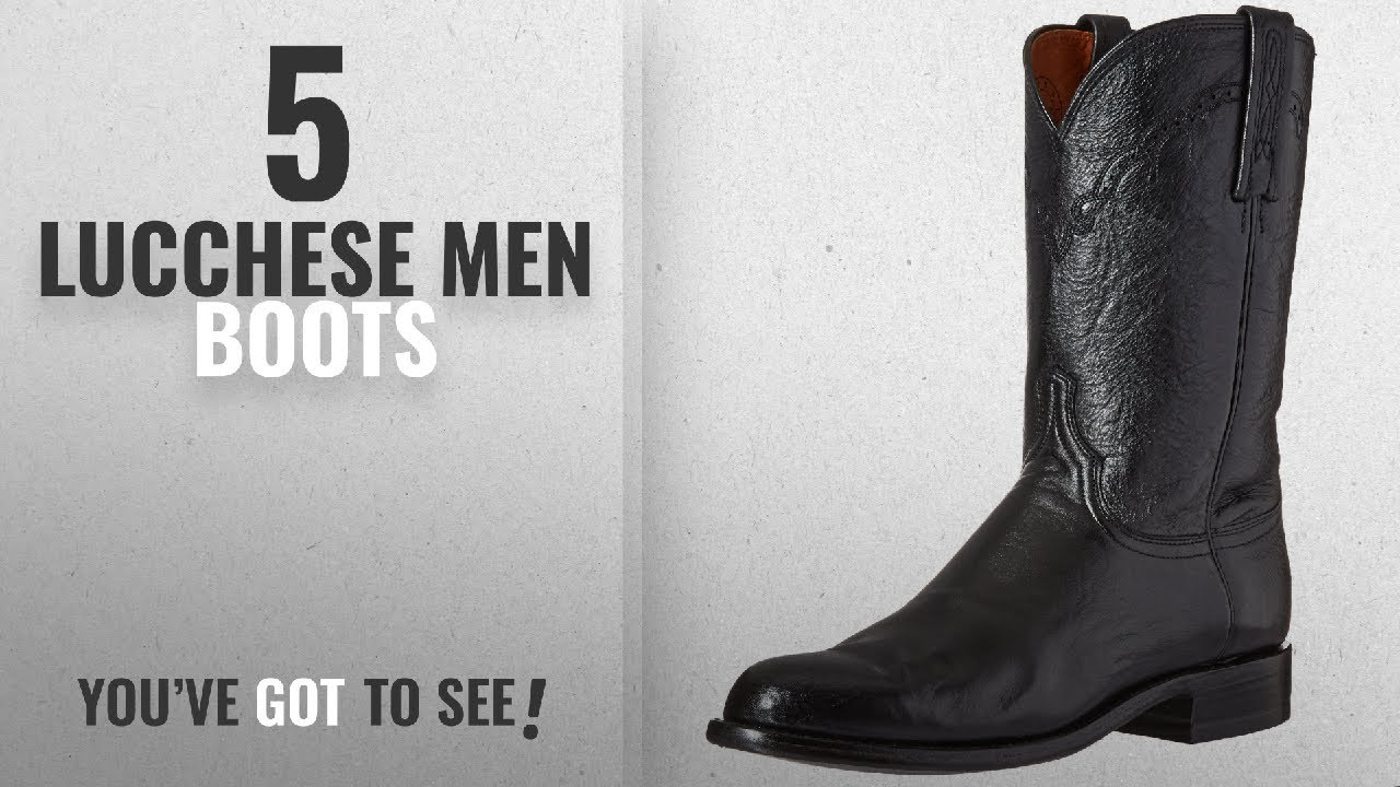 896c2bf9d37 Top 10 Lucchese Men Boots [ Winter 2018 ]: Lucchese Bootmaker Men's  Lawrence-Blk Lonestar Calf Roper