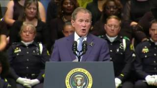 George W Bush Dallas Memorial Service 7/12/16 FULL SPEECH