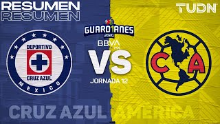 Resumen | Cruz Azul vs América | Guard1anes 2020 Liga BBVA MX - J12 | TUDN