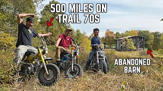 Riding 500 miles on 70's Honda MINI BIKES to Find Ike's ABANDONED Mountain Cabin! 2020 Fall Special!
