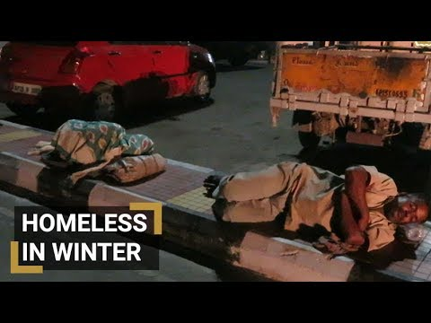 The homeless brave winter nights on the streets