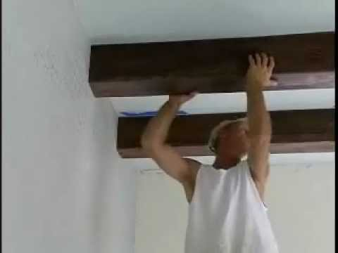 How to Install Faux Ceiling Beams   YouTube