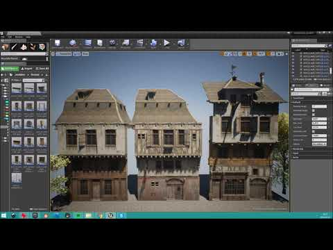 Medieval architecture placeholder [WIP#6] - High+Low level randomisation
