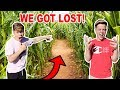 First To Finish CORN MAZE Wins $10,000! *GOT LOST*