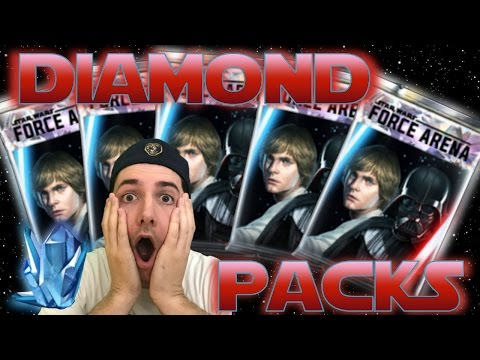 Star Wars Force Arena - HUGE DIAMOND PACK OPENING - HOW TO BEST SPEND CRYSTAL