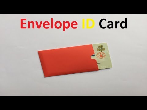 How to make a paper envelope ID card | Origami ID Card Holder Folding | How to Fold an Origami