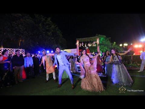 Best Engagement Entry-Bride and Groom I Shrey & Urvashi I The Royal Frame