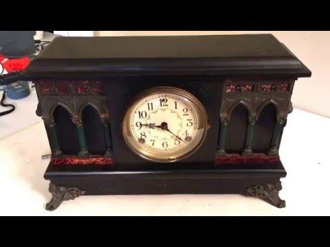 Vintage Sessions Column Mantle Clock Antique