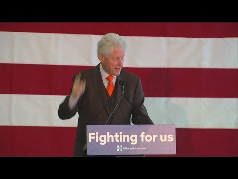 Former President Bill Clinton visits Palm Beach County Monday to stump for Hillary