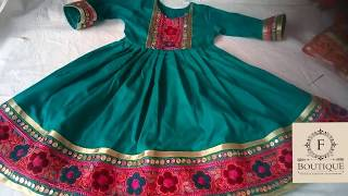 Pathani frock Sindhi frock blochi frock girl frock cutting and stiching full tutorial