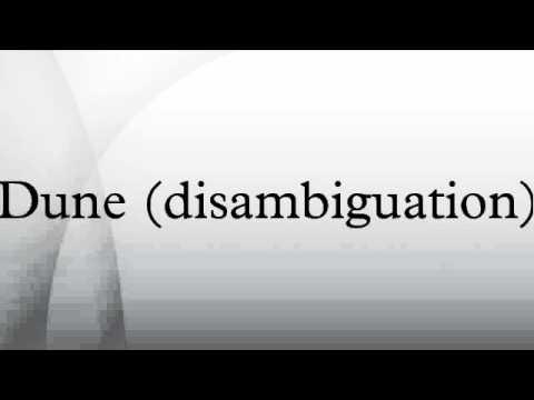 Dune (disambiguation)