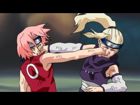 3 Minutes Of Taijutsu | Haruno Sakura VS Yamanaka Ino | Epic Chunnin Kunoichi | Naruto Dattebayo