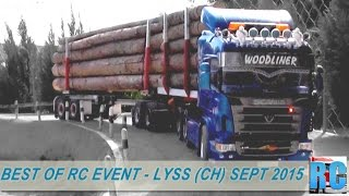 BEST OF RC TRUCK EVENT - LYSS SWITZERLAND,  SEPTEMBER 2015 - EXCAVATOR,TRUCKS,WHEEL LOADERS