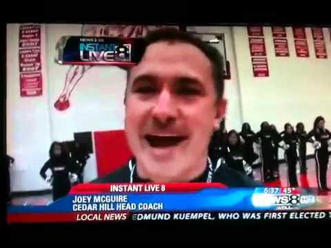 Cedar Hill high school red army 2010 on tv