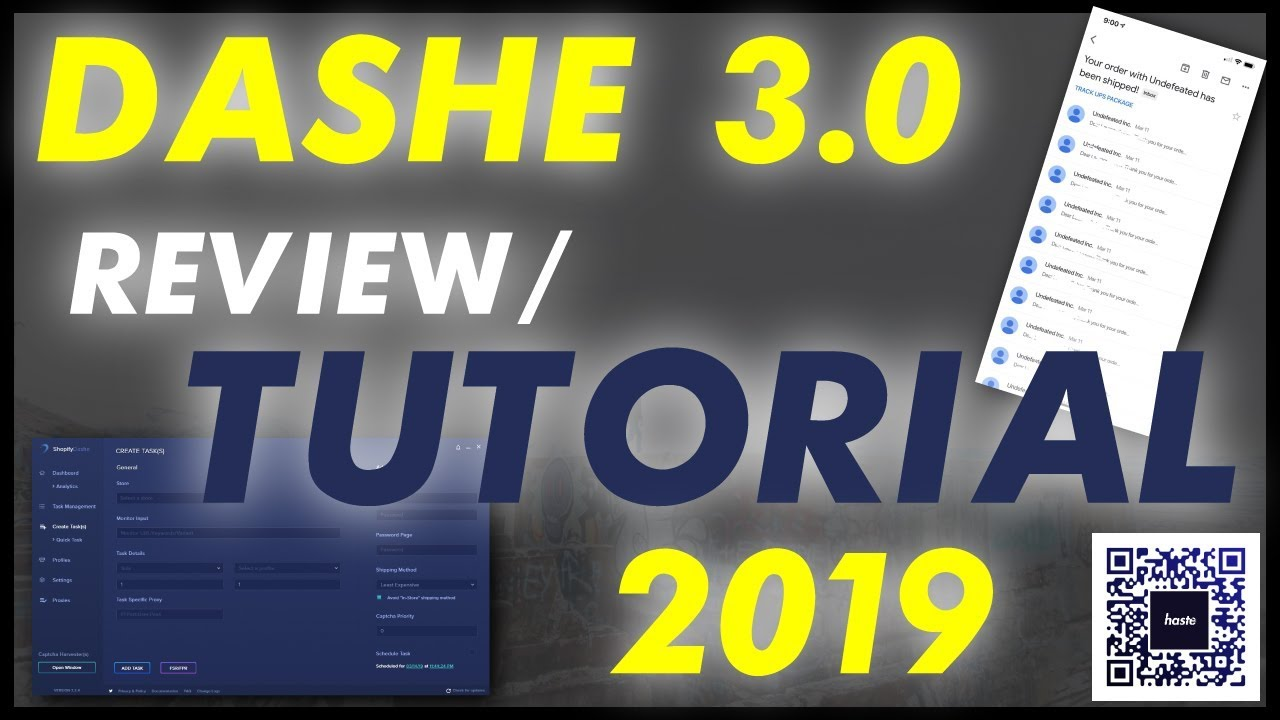 Shopify Dashe 3 0 SNEAKER BOT 2019 HONEST REVIEW/SETUP