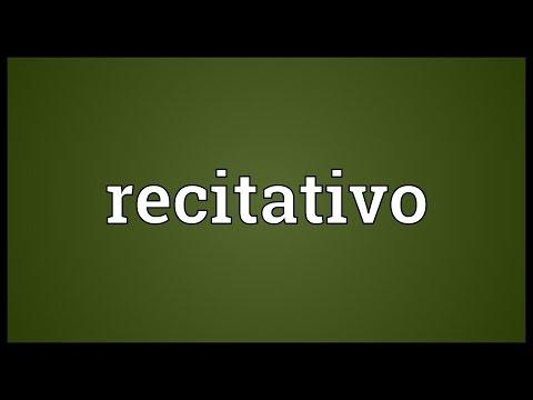 Header of recitativo