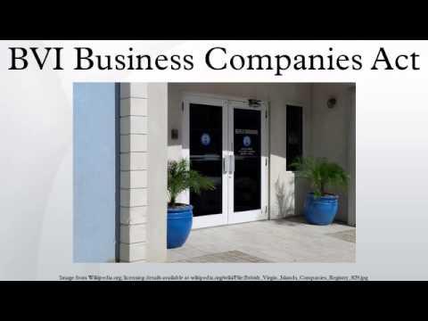 BVI Business Companies Act