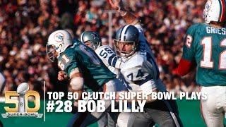 #28: Bob Lilly Sacks Bob Griese Super Bowl VI | Top 50 Clutch Super Bowl Plays