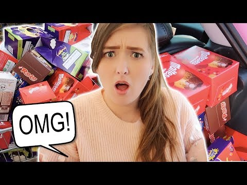 I FILLED MY ENTIRE CAR WITH EASTER EGGS!