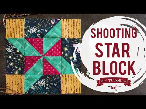 How to make a Shooting Star Block with Indie Folk Fabrics