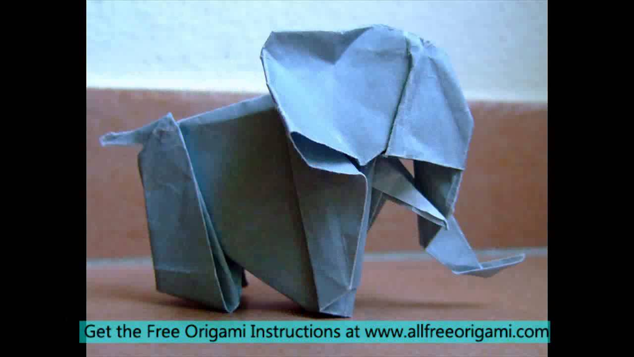 origami elephant head youtube