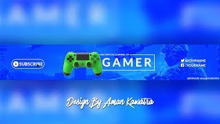 [FREE] Professional Gaming Banner Template | Photoshop CC