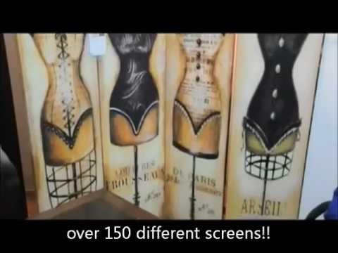 Room Dividers art print folding screens YouTube