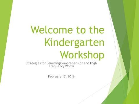 Kindergarten Parent Workshop