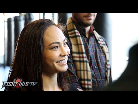 """Michelle Waterson feels Holm will be 145/135 champ, Joanna Jedrzejczyk title shot """"a matter of time"""