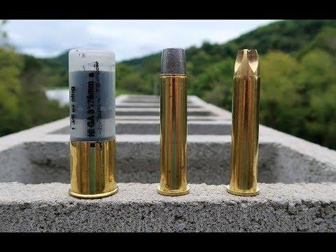 BEAR Rounds! - 12 gauge vs 4570 - cinder block test