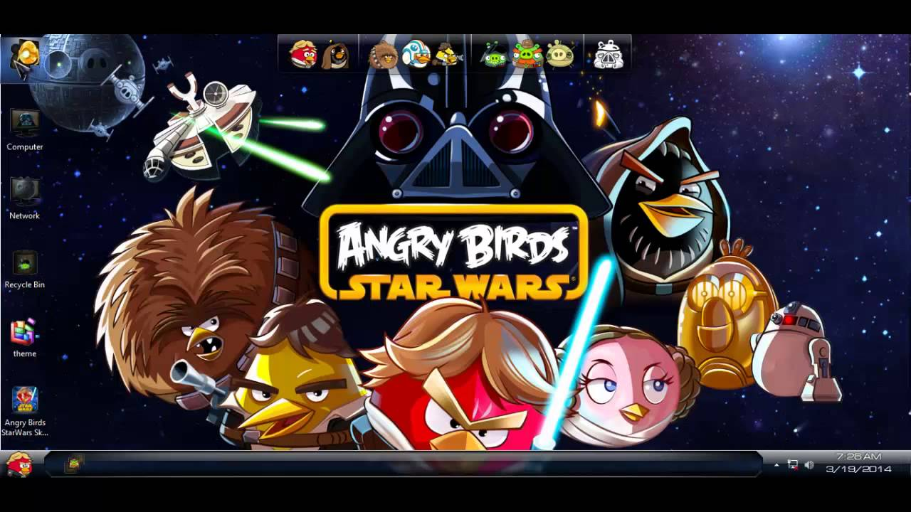 Angry birds space theme for windows 7 / windows 8 | the947.