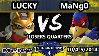 TBH4 - C9 Mango (Falco) Vs. HugS | Lucky (Fox) SSBM Losers Quarters - Melee