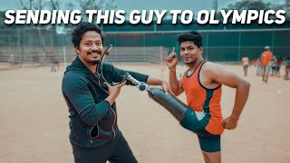 Guy Runs Without One Leg | Sponsoring Him to Paralympics !!