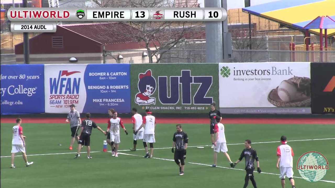AUDL 2014  Toronto Rush v. New York Empire - YouTube 52f502f6e