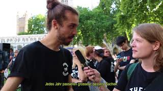 Interview with Earthling Ed @The Official Animal Rights March, London 2017