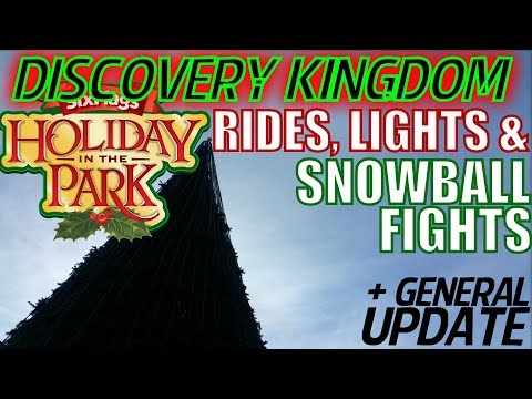 Holiday in the Park @ SFDK + General Update | Dec 9th Six Flags Snow Day